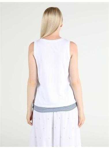 Colin's CL1051941_Q1.V1_WHT Regular Fit Kadın Beyaz Atlet Beyaz